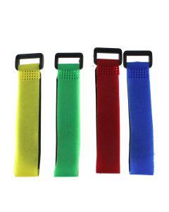 4 Pcs 2CM * 30CM  Battery Bandage Magic Button Velcro